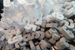 Буквы и цифры из пенопласта