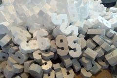 Изготовление пенопластовых цифр