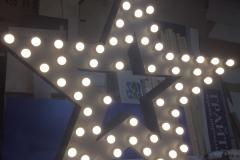 звезда с лампами