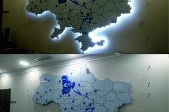 карта Украины с подсветкой