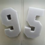 Изготовление цифр из пенопласта для 95 квартала