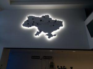 карта с контражуром
